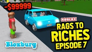 GETTING SCAMMED AS AN UBER DRIVER - Bloxburg Rags to Riches #7