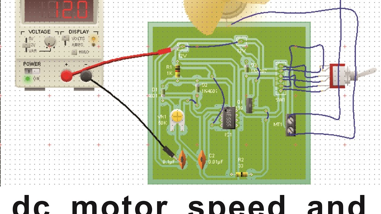 Dc Motor Speed And Direction Control Circuit Using Ic 555 Pwm Youtube Timer
