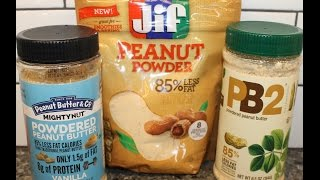 Peanut Butter & Co., Jif, & Pb2: Powdered Peanut Butter Comparison
