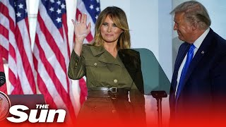Melania trump praised her husband donald in an unvetted speech during the republican national convention on tuesday night.melania - wearing a soldierly chic,...