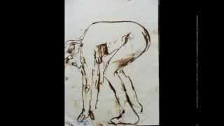 nude man stands animation
