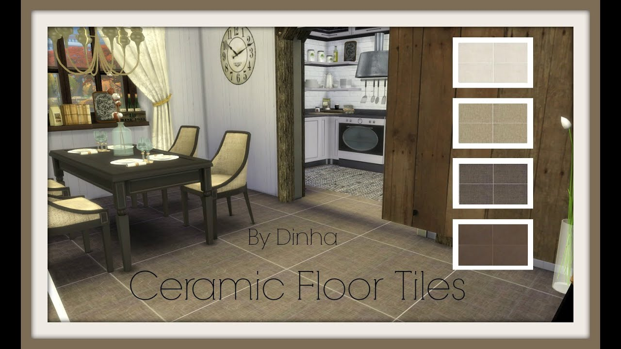 Sims 4 Ceramic Floor Tiles Brown Custom Content