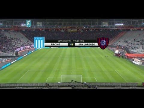 Transmisión de Fútbol en vivo, Copa Argentina  Racing- San Lorenzo 4tos de final
