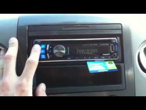 2008 Ford F150 Alpine Radio Ipod Pandora Cde 124sxm