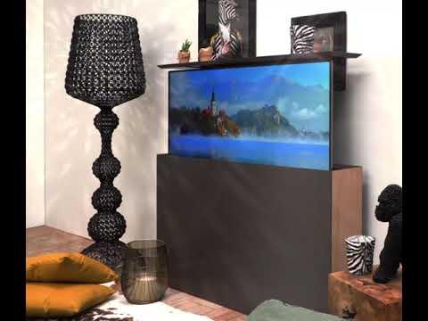 Meuble TV PROFILAGE, escamotable et télécommandé