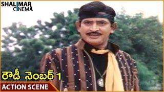 Rowdy Number 1 Movie || Krishna Superb Action Scene || Krishna, Radha, Sharadha || Shalimarcinema