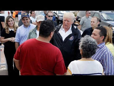 Trump's visit to Puerto Rico gets mixed results