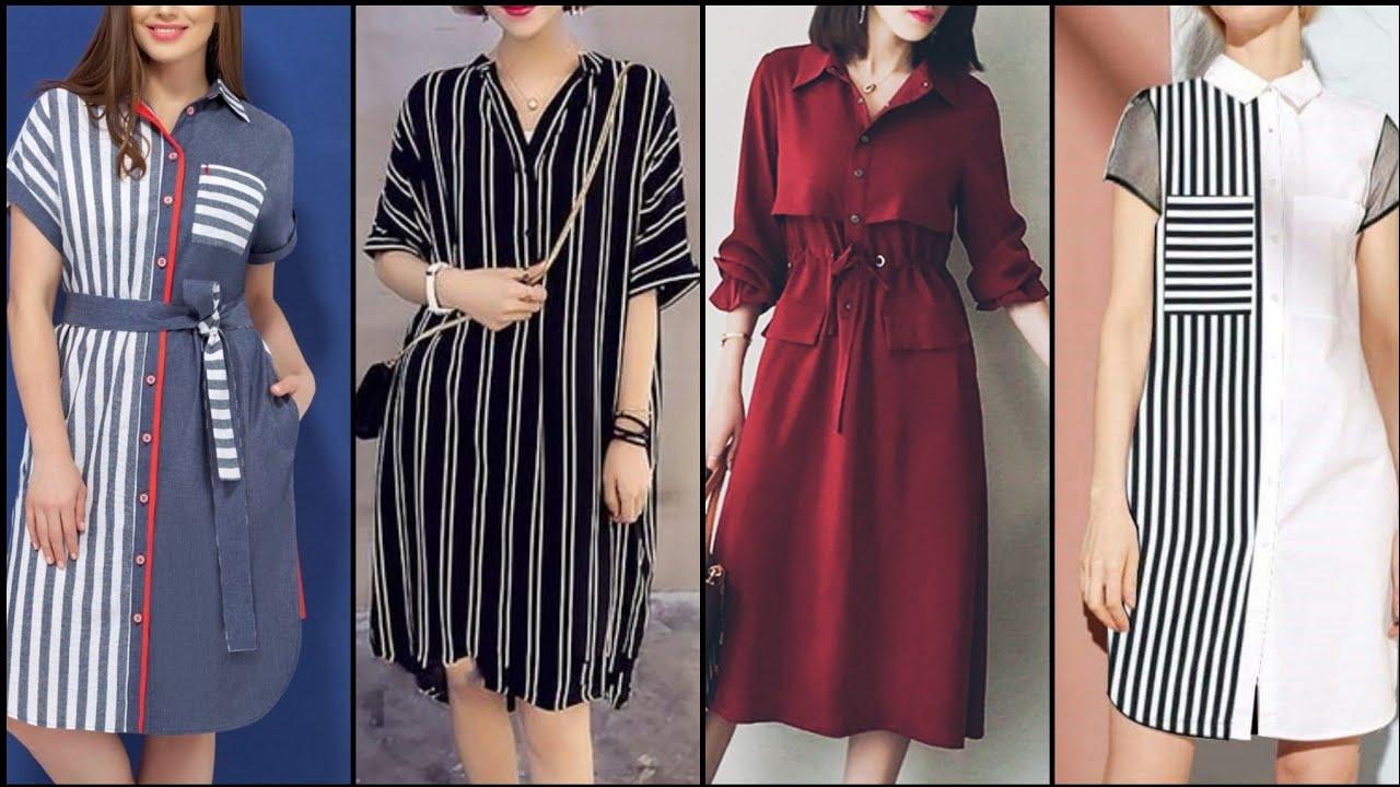 Top Stylish And Trendy Beautiful Casual Shirt Dress /Shift Dress Design