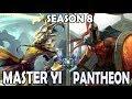 Best Master Yi Korea vs Pantheon - Ranked