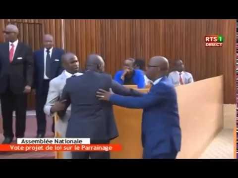 Vote loi Parrainage: ça chauffe - Bagarre générale à l'Assemblée nationale
