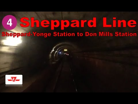 4 Sheppard Line - TTC 1995-2001 Bombardier T1 (Sheppard-Yonge Stn to Don Mills Stn) [Front view]
