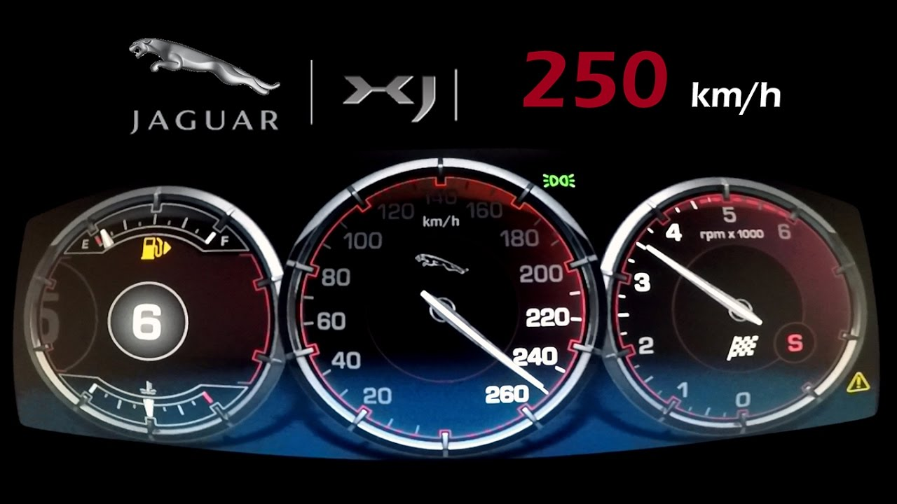 JAGUAR XJ 3.0 V6 Diesel - ACCE𝘓ERATION TOP SPEED 250 Km/h - YouTube