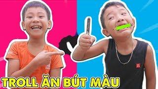 Lớp Học Nhí Nhố Quyết Đại Ca Ăn Bút Màu Trong Lớp - Jun Jun TV