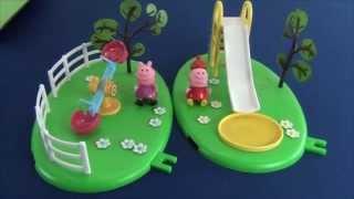 Обзор двух игровых площадок Свинки Пеппы. Пеппа горка и качели
