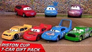 Repeat youtube video Cars 2 Piston Cup 7-Cars Pack Diecast Target Lightning McQueen 2013 The King Disney Pixar toys
