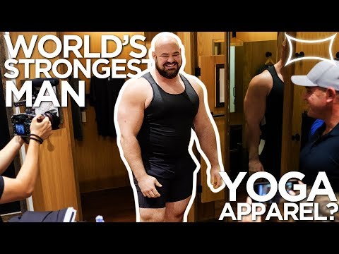 World's Strongest Man Tries Yoga Apparel at Lululemon