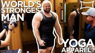 World's Strongest Man Tries Yoga Apparel at Lululemon thumbnail