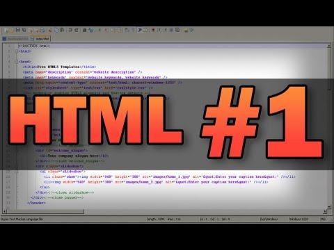 HTML Tutorial 1: Basics (pictures, align, size, redirecting, metatags, links, text options)