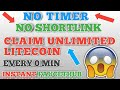 NO TIMER NO SHORTLINK LITECOIN FAUCET    CLAIM UNLIMITED LITECOIN    INSTANT FAUCETHUB