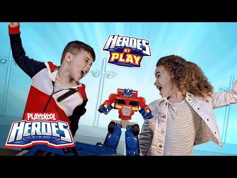 Playskool - Transformers: Rescue Bots 'Optimus Prime Race Track Trailer' Official TV Spot