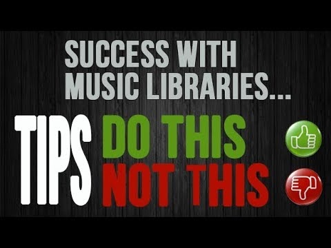 DO THIS, NOT THIS, WHEN SUBMITTING TO MUSIC LIBRARIES