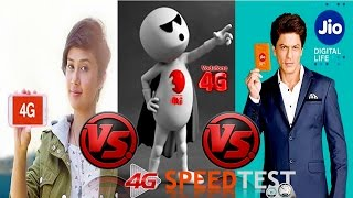 Airtel 4G or Vodafone 4G or JIO? | who is best in 4G segment ?