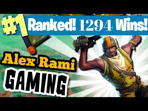 #1 WORLD RANKED - 1294 SOLO WINS! - FORTNITE BATTLE ROYALE LIVE STREAM
