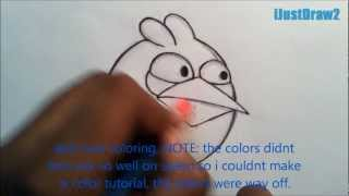 How To Draw The Blue Angry Bird