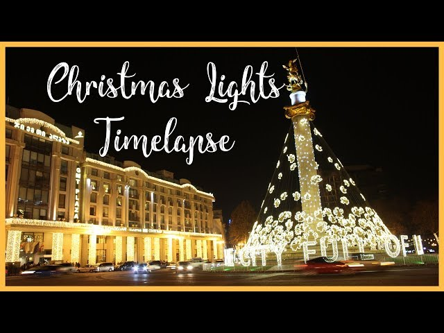 Tbilisi Christmas Lights Timelapse