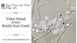 Crystal Flower Bridal Hair Comb by Hair Comes the Bride - Avery