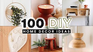 100 DIY HOME DECOR IDEAS + HACKS You Actually Want To Make! ✨ (Full Tutorials)