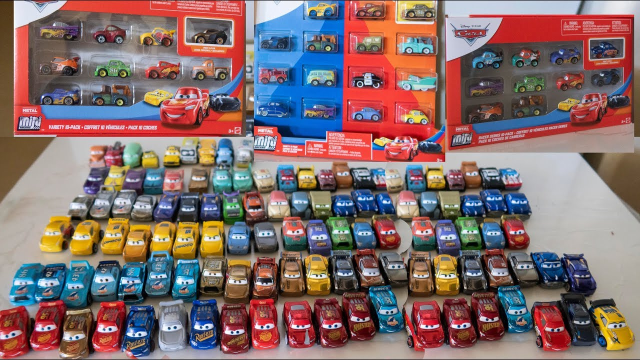 100 Disney Cars Lightning Mcqueen Toys Mini Racers Collection
