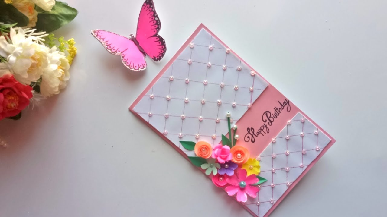 Beautiful Handmade Birthday Card Idea Diy Greeting Pop Up Cards