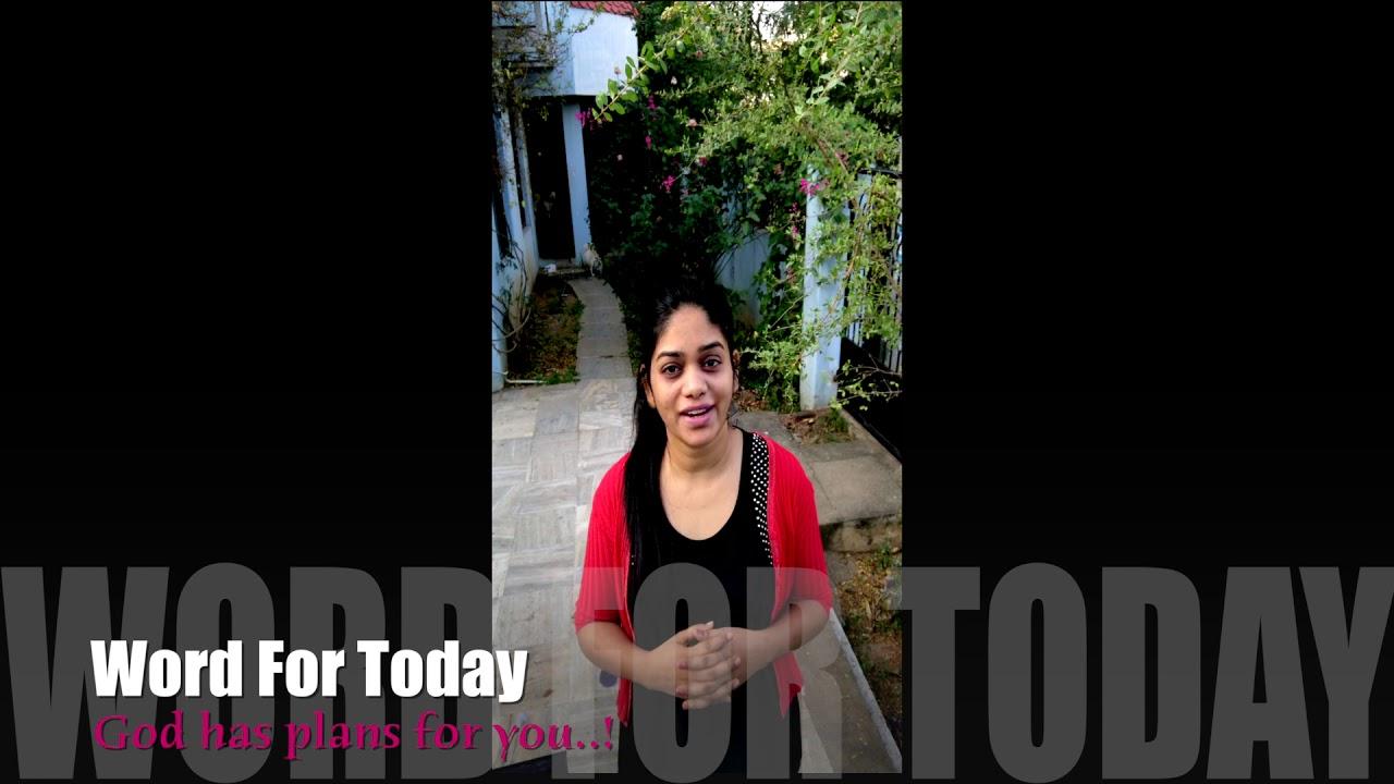 November 18   Word For Today   Sis.Divya David