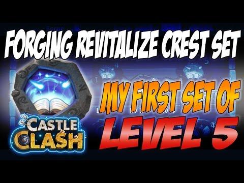 Castle Clash - Forging First Level 5 Revitalize Crest Set