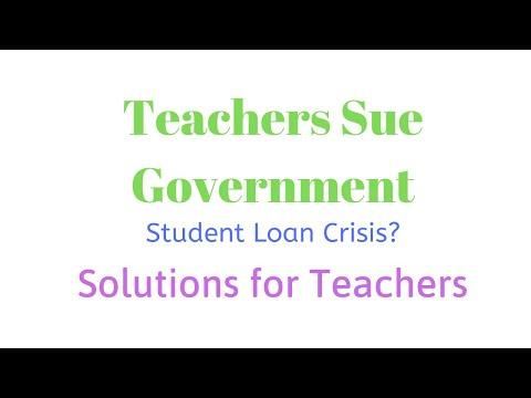 Teachers Suing Student Loan Article Vlog
