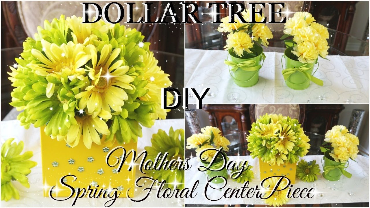 Diy Dollar Tree Mothers Day Spring Floral Centerpiece Part 4