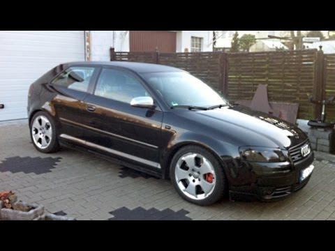 audi a3 3 2 vr6 8p mit s3 aga auspuff exhaust sound youtube. Black Bedroom Furniture Sets. Home Design Ideas