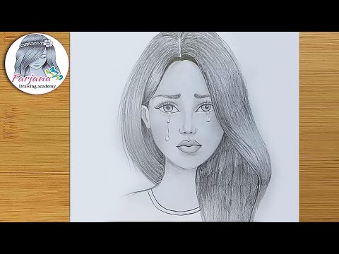 Crying Girl Pencil Sketch How To Draw Crying Girl Youtube