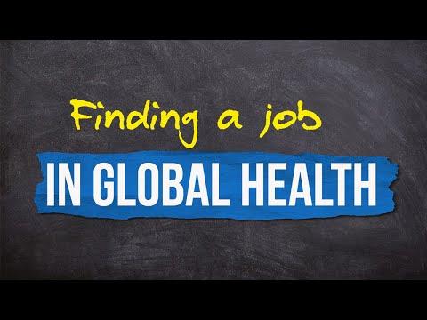 Finding a job in Global Health