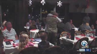 Soldier surprises family