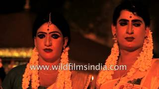 Straight men dress up as women here in India, as a fertility prayer : Chamayavilakku