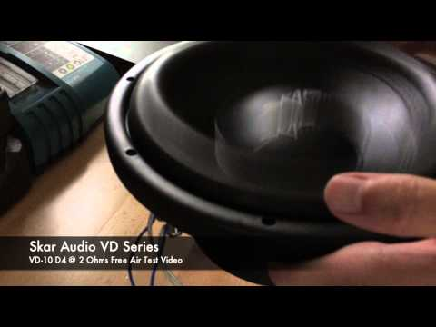 Skar Audio VD-10 Free AIR Test Video on 50Hz Test Tone - Shallow Mount Woofer