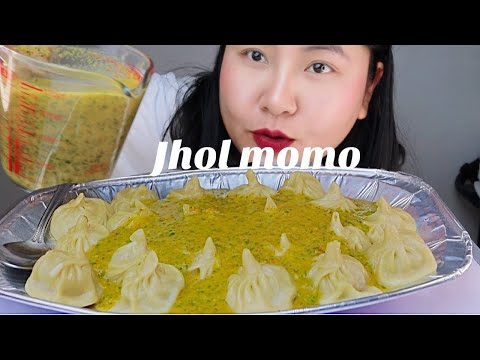 Download Chicken jhol momo /dumplings 🇳🇵 nepali food MUKBANG/ASMR