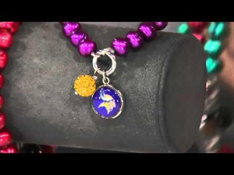 Honora Cultured Pearl 7.0mm NFL Team Stretch Charm Bracelet on QVC