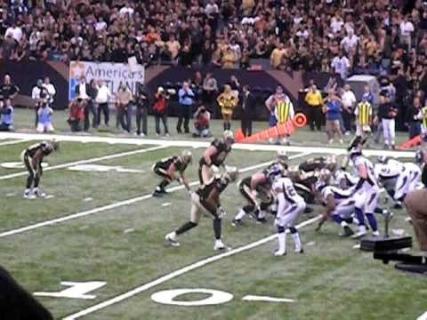 Drew Brees Handoff to Pierre Thomas for a Touchdown! NFC Championship Game - Saints vs Vikings