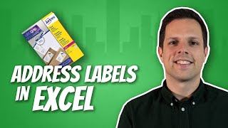 How to print address labels from a list in Excel