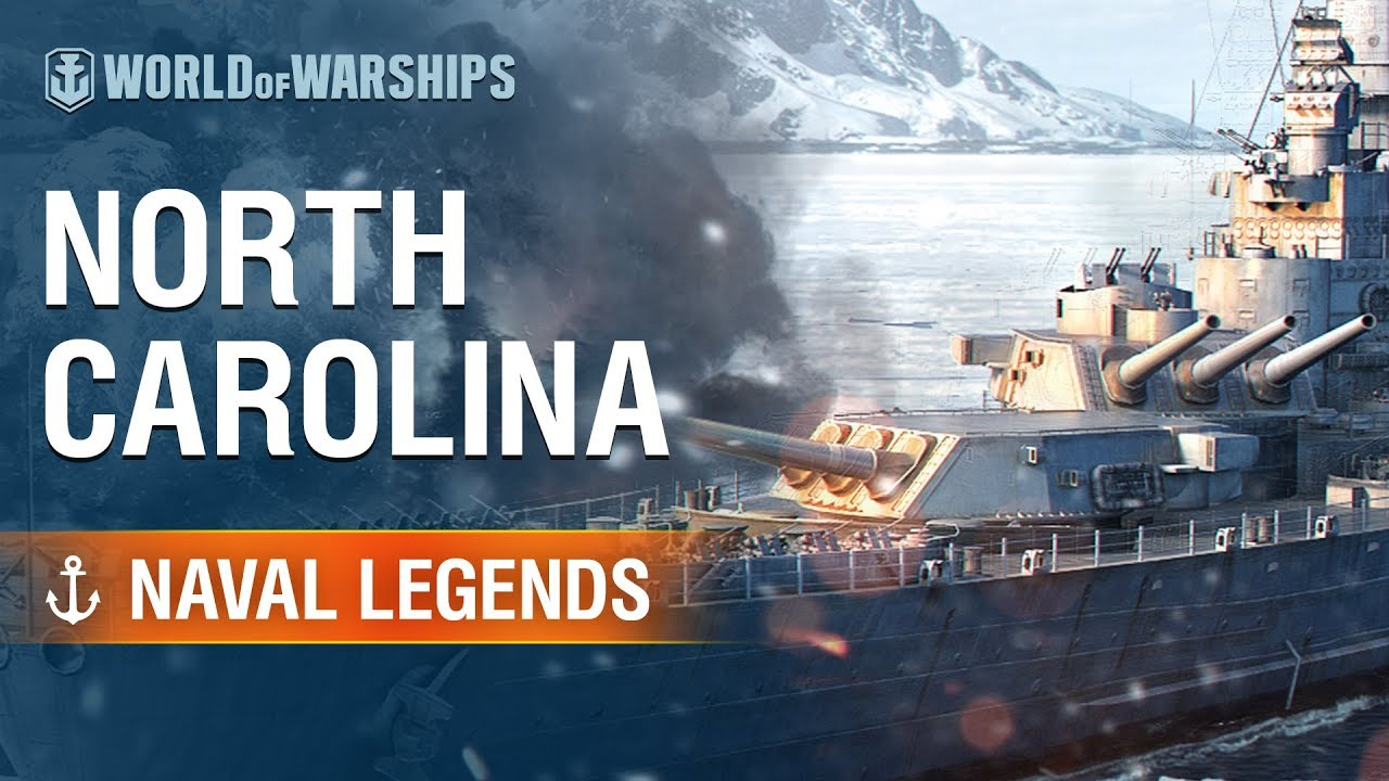 Naval Legends: North Carolina | World of Warships - YouTube