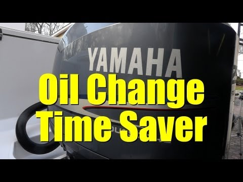 TIMESAVING tool for OIL CHANGE on YAMAHA F250 Outboard Motors