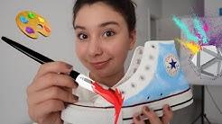 AYAKKABIMI BOYADIM 2 🌈 Converse Ayakkabımı Yeniliyorum !